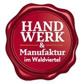 """Logo of the initiative """"Handwerk & Manufaktur im Waldviertel"""""""
